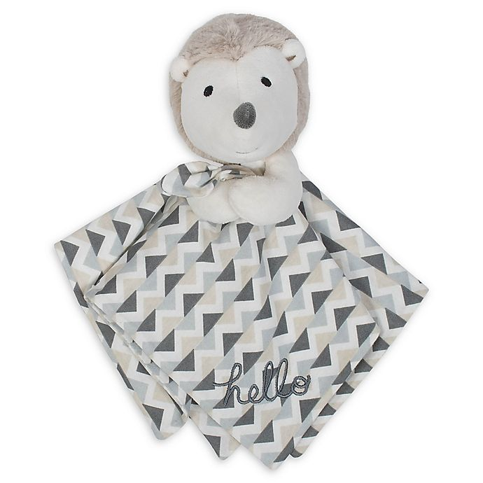 Alternate image 1 for Gerber® Hedgehog Organic Cotton Security Blanket in Taupe