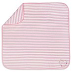 "Gerber® Striped ""Love"" Organic Cotton Blanket in Pink"
