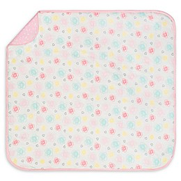 Gerber® Flowers and Hearts Organic Cotton Blanket in Pink