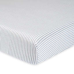 Gerber® Stripe Organic Cotton Fitted Crib Sheet in Grey/Ivory