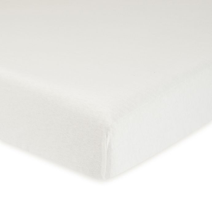 Alternate image 1 for Gerber® Organic Cotton Fitted Crib Sheet in White
