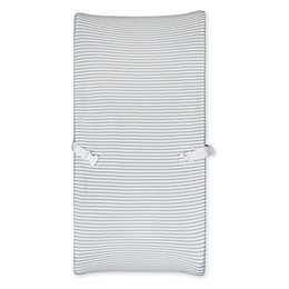 Gerber® Grey Striped Organic Cotton Changing Pad Cover
