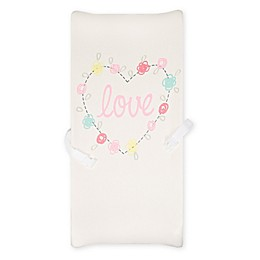 "Gerber® ""Love"" Organic Cotton Changing Pad Cover in White"