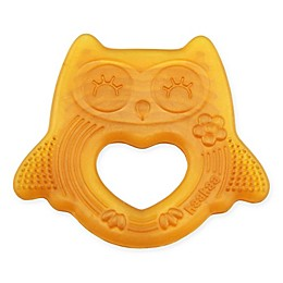 Haakaa Natural Rubber Smiling Owl Teether in Orange