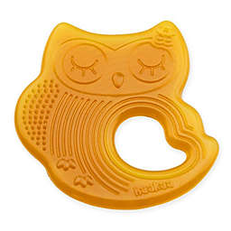 Haakaa Natural Rubber Sleeping Owl Teether in Orange