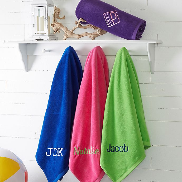 Alternate image 1 for Colorful Embroidered Beach Towel Collection