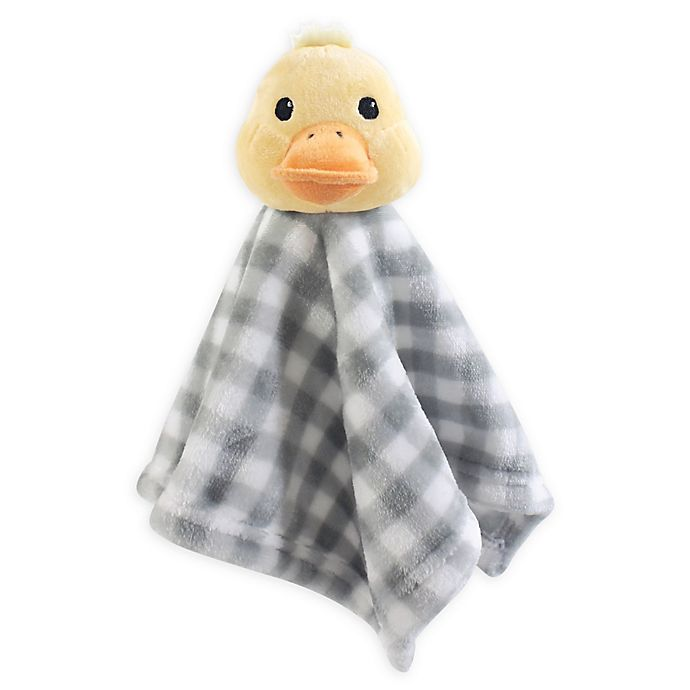 Alternate image 1 for Hudson Baby® Duck Plush Velboa Security Blanket in Yellow/Grey