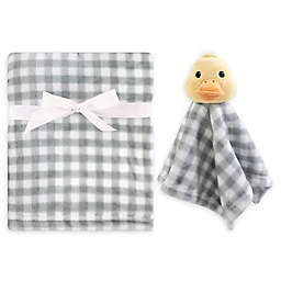 Hudson Baby® Duck Security Blanket Set in Yellow/Grey