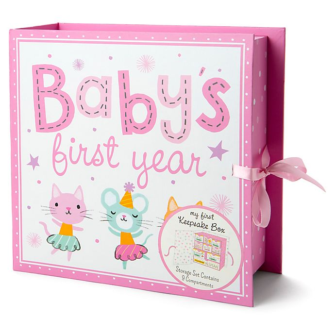 Alternate image 1 for Little Me® Baby Animals Keepsake Box