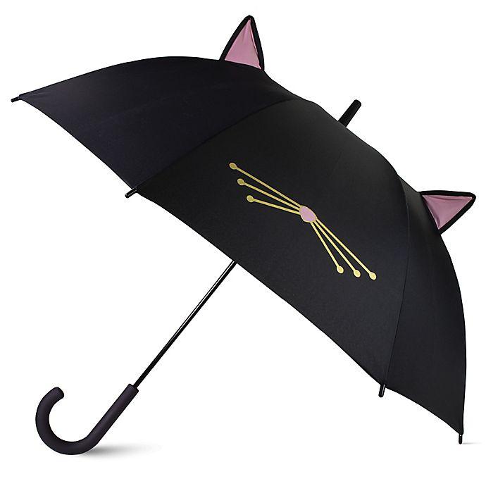 Alternate image 1 for kate spade new york Cat Umbrella in Black