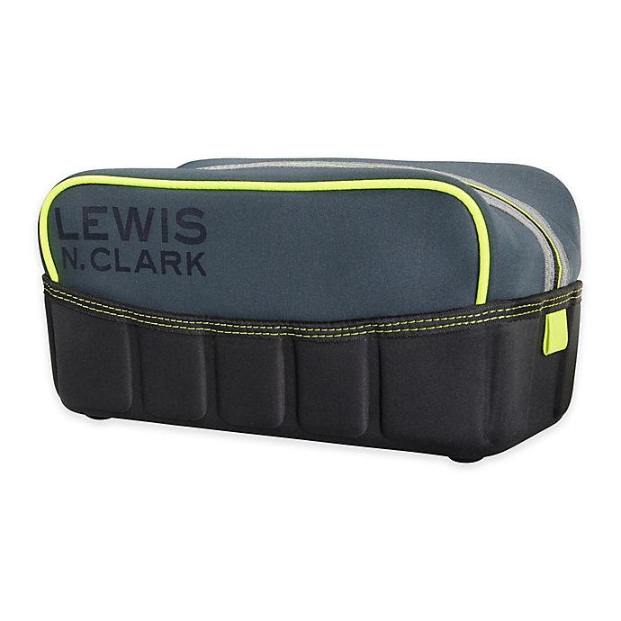 Alternate image 1 for Lewis N. Clark® Travelflex™ Classic Toiletry Kit in Charcoal