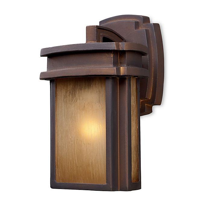 Alternate image 1 for ELK Lighting Sedona 1-Light Outdoor Sconce in Hazelnut Bronze