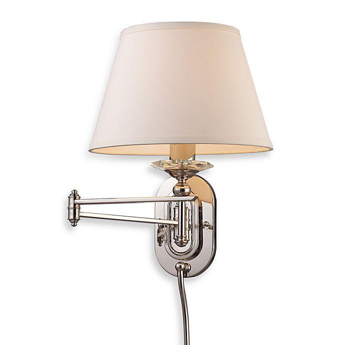 Elk Lighting Sconce: ELK Lighting Swingarm 1-Light Sconce In Polished Nickel