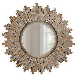 Sunburst 14-Inch Round Mirror