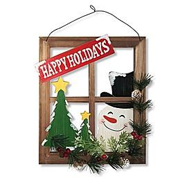 """National Tree Company """"Happy Holidays"""" Window Pane Wall Art"""