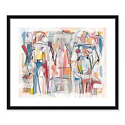 Figures in Motion Abstract 21.5-Inch x 25.5-Inch Framed Wall Art