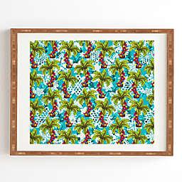 Deny Designs Aimee St. Hill Tropical Christmas 8-Inch x 9.5-Inch Framed Wall Art