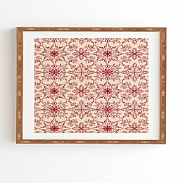 Deny Designs Snowflake Framed Wall Art