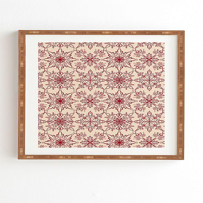 Alternate image 1 for Deny Designs Snowflake Framed Wall Art