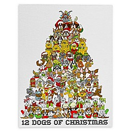 Deny Designs Holiday Dogs Canvas Wall Art