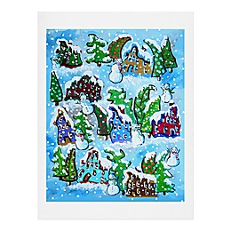 Deny Designs Snowman Whimsy Paper Wall Art
