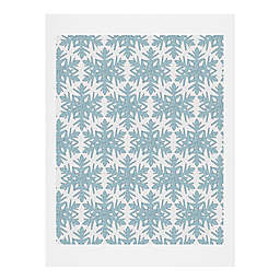 Deny Designs Snowflake Paper Wall Art in Blue
