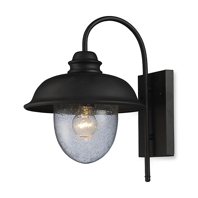 Alternate image 1 for ELK Lighting Streetside Cafe 1-Light Medium Outdoor Sconce in Matte Black