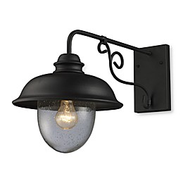 ELK Lighting Streetside Cafe 1-Light Small Outdoor Sconce in Matte Black