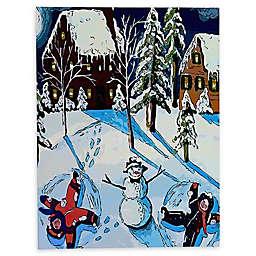 Deny Designs Snow Angels Canvas Wall Art