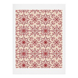 Deny Designs Snowflake Pattern Print Wall Art
