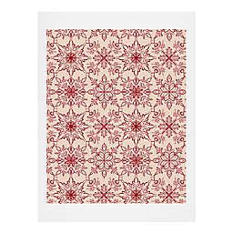 Deny Designs Snowflake Pattern Print Wall Art
