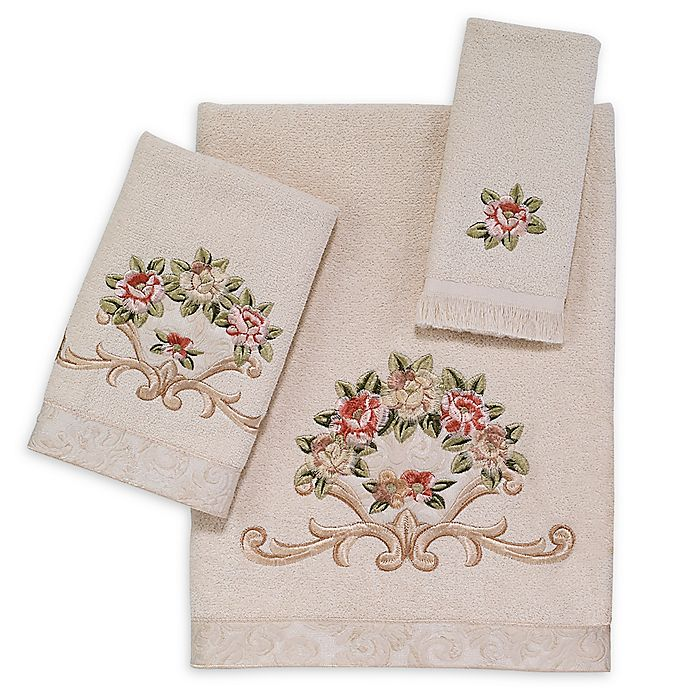 Alternate image 1 for Avanti Rosefan Bath Towel in Ivory