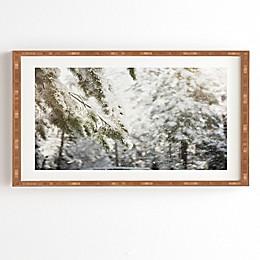Deny Designs Snow Falling Framed Print Wall Art