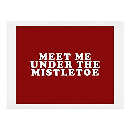 "Deny Designs ""Meet Me Under The Mistletoe"" Wall Art"