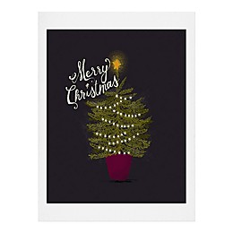 Deny Designs Merry Christmas Little Print Wall Art