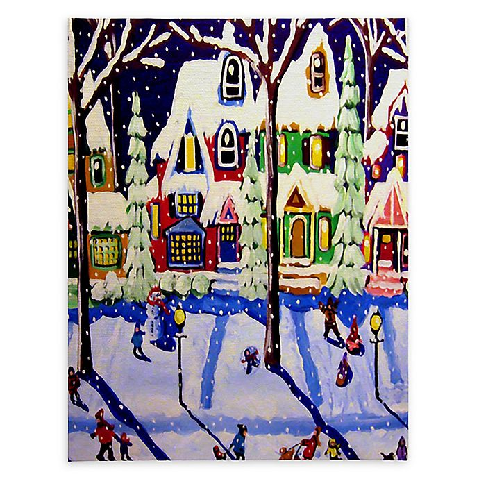 Alternate image 1 for Deny Designs Snow Day Canvas Wall Art