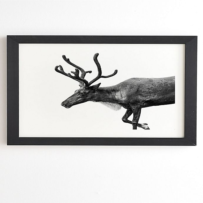 Alternate image 1 for Deny Designs Reindeer 14-Inch x 16.5-Inch Framed Wall Art