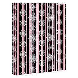 Deny Designs Frosty Wrapped Canvas in Black/Pink
