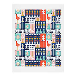 Deny Designs Christmas Collage 16-Inch x 20-Inch Wall Art