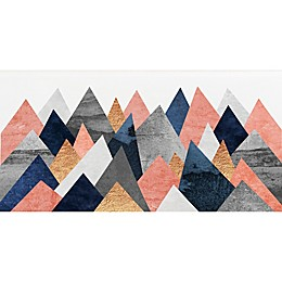 Deny Designs Pink and Navy Peaks Paper Wall Art