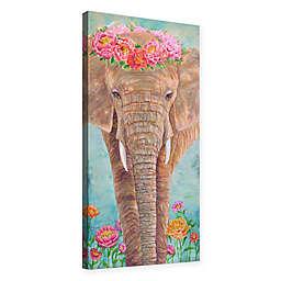Julie Joy Zen Elephant Canvas Wall Art in Brown