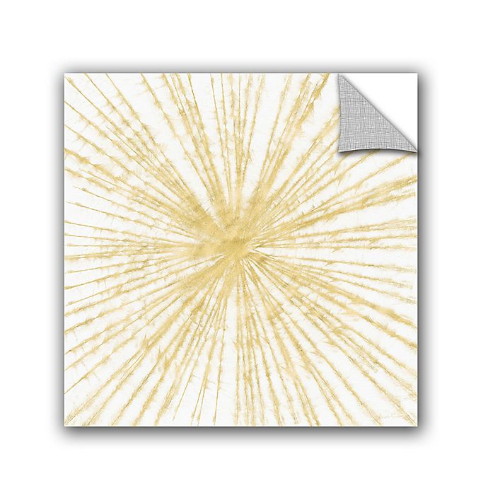 Alternate image 1 for Linda Woods Spinning Gold Removable Vinyl 10-Inch x 10-Inch Wall Mural in Gold