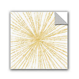 Linda Woods Spinning Gold Removable Vinyl Wall Mural in Gold