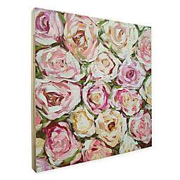 Emma Bell Box of Roses Framed Wood Art in Pink