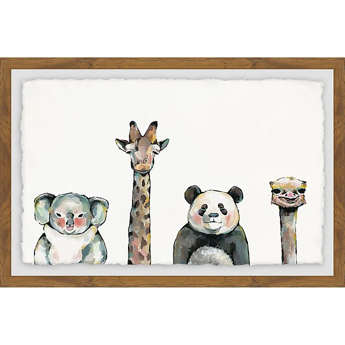 Alternate image 1 for Marmont Hill Cute and Cuddly 36-Inch x 24-Inch Framed Wall Art