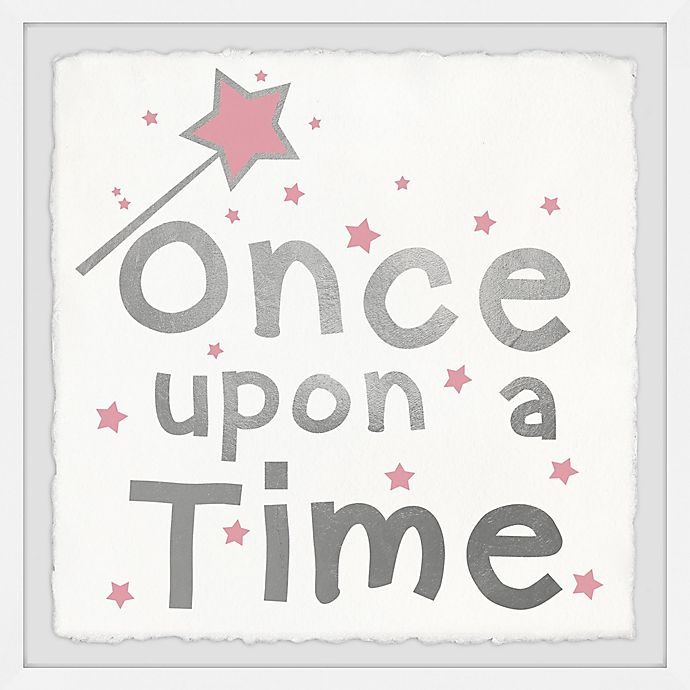 Alternate image 1 for Marmont Hill Once upon a Time Sparkle 12-Inch Squared Framed Wall Art