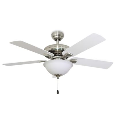 Federal Hill 52 Inch Bowl Light Ceiling Fan In Brushed Nickel Bed Bath Beyond