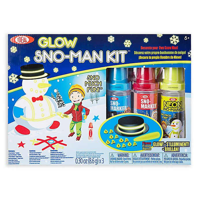 Alternate image 1 for Ideal® Multicolor Glow Sno-Man Kit