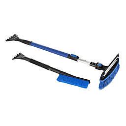 2-Piece Telescopic Snow Scraper Set in Blue