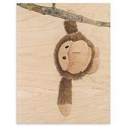 Monkey Baby 16-Inch x 20-Inch Wood Wall Art